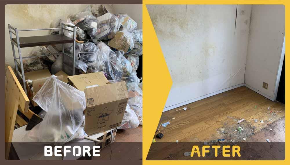 引っ越しに伴って出た大量の不用品の処理にお困りのお客様からご依頼いただきました。