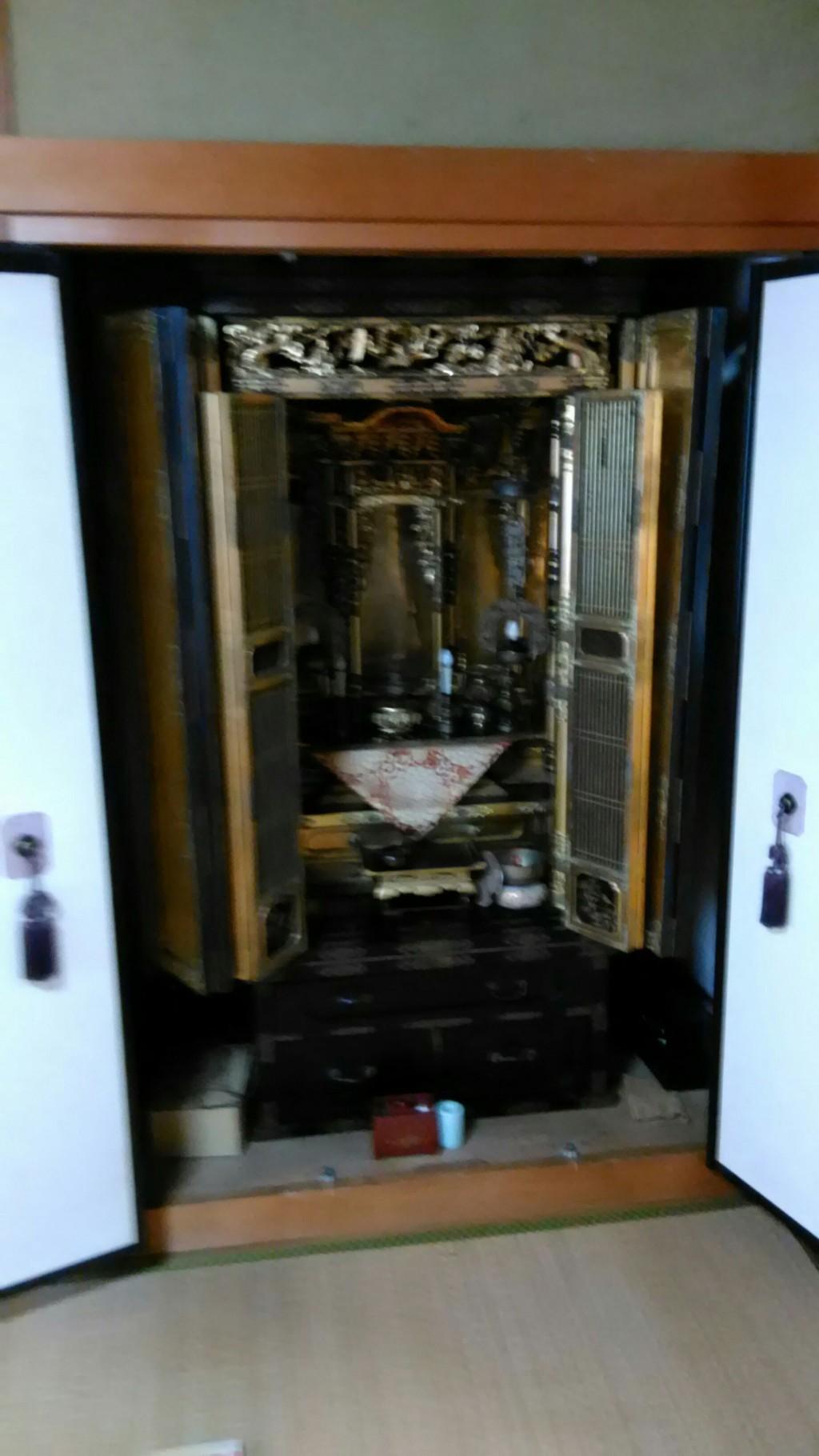 【南砺市】仏壇、仏具の回収・処分のご依頼 お客様の声