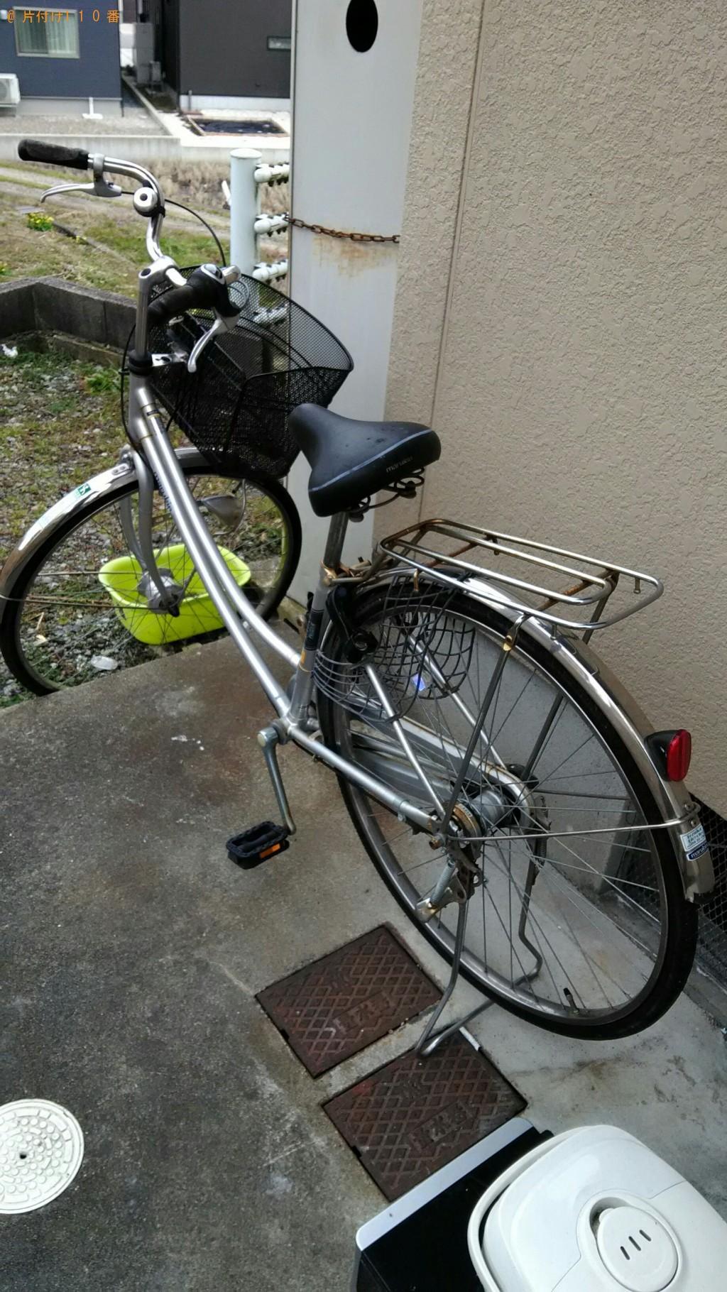 【射水市】折り畳みベッド、自転車、炊飯器等の処分 お客様の声
