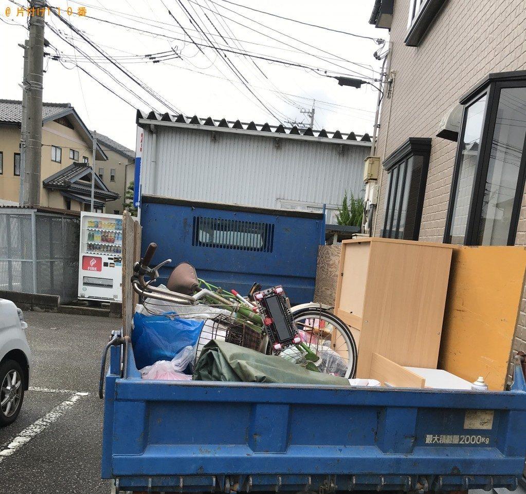 【高岡市】整理タンス、自転車、衣類等の回収・処分 お客様の声