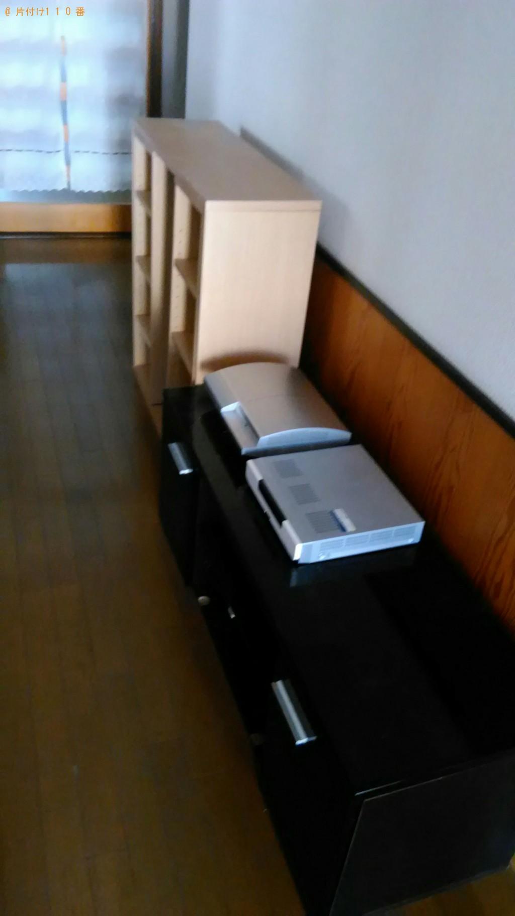 【下新川郡朝日町】本棚、テレビ台、ゲーム機、チューナーの回収