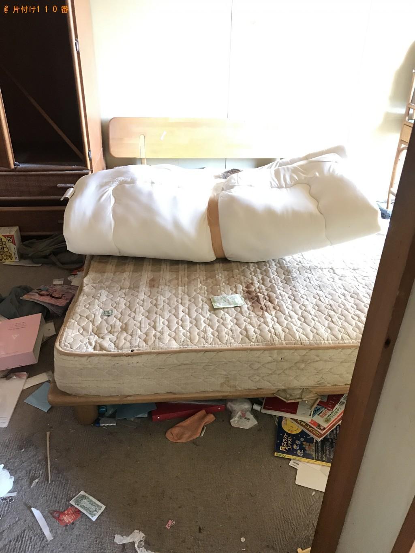 【富山市】セミダブルベッド、ベッドマットレス、冷蔵庫等の回収