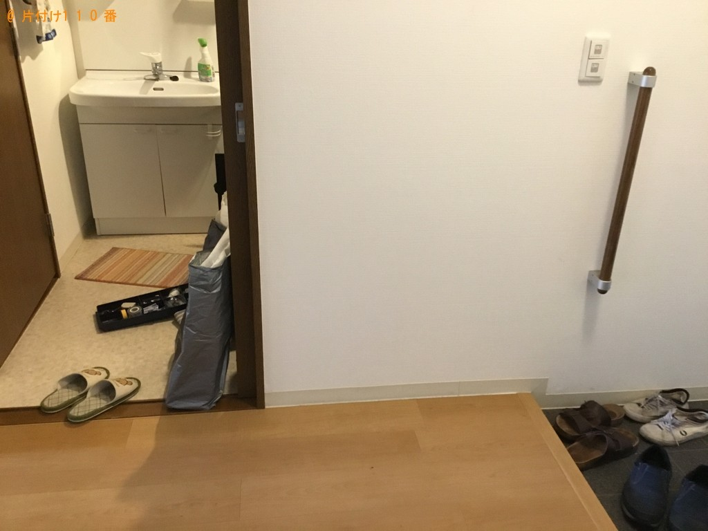 【富山市】マットレス付きシングルベッド、三人掛けソファーの回収