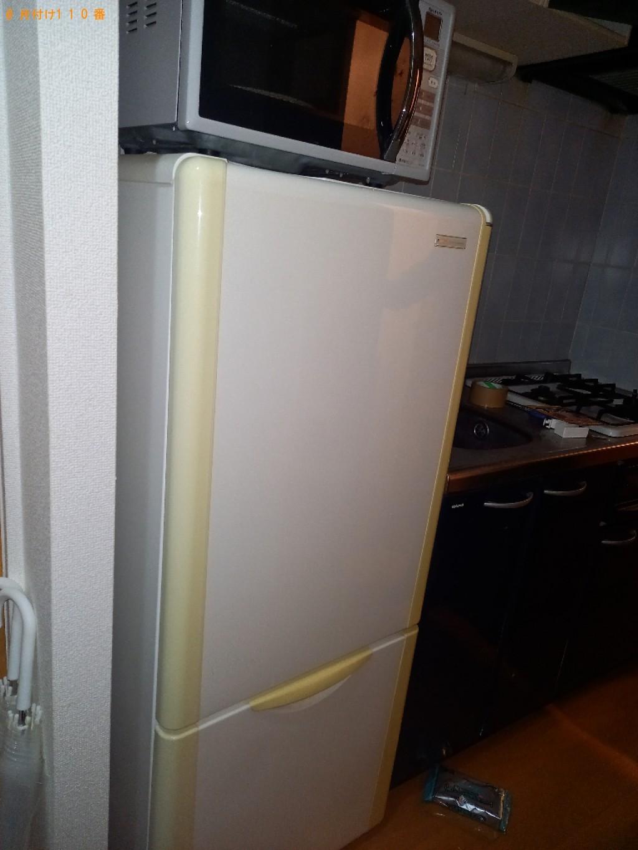 【富山市】冷蔵庫、洗濯機、マットレス付きシングルベッド等の回収