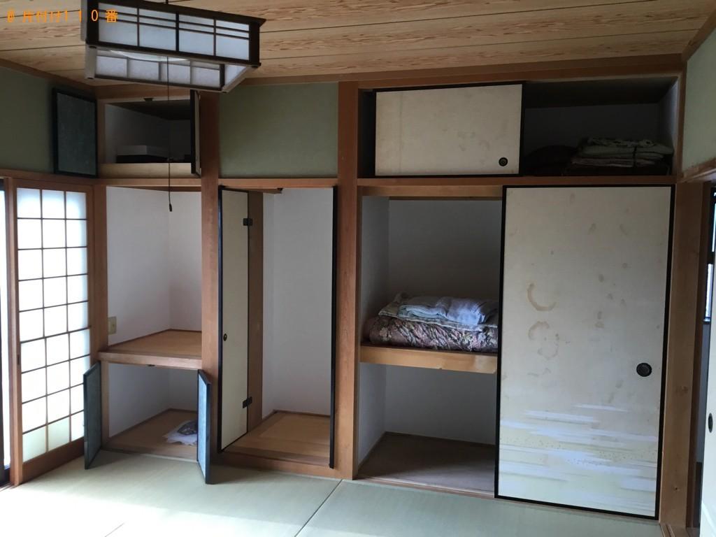 【富山市】デスク、チェア―、布団、バケツ、衣装ケース等の回収
