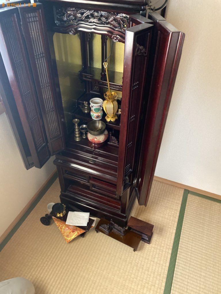 【南砺市】遺品整理で仏壇、仏具の回収・処分ご依頼 お客様の声