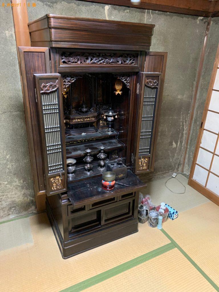 【射水市】遺品整理で仏壇、仏具の回収・処分ご依頼 お客様の声