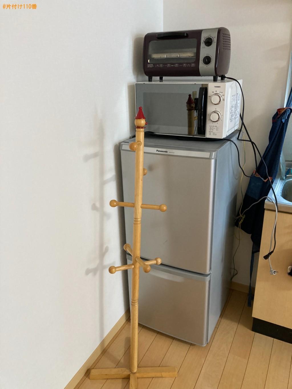 冷蔵庫、電子レンジ、トースター、ポールハンガー、自転車の回収